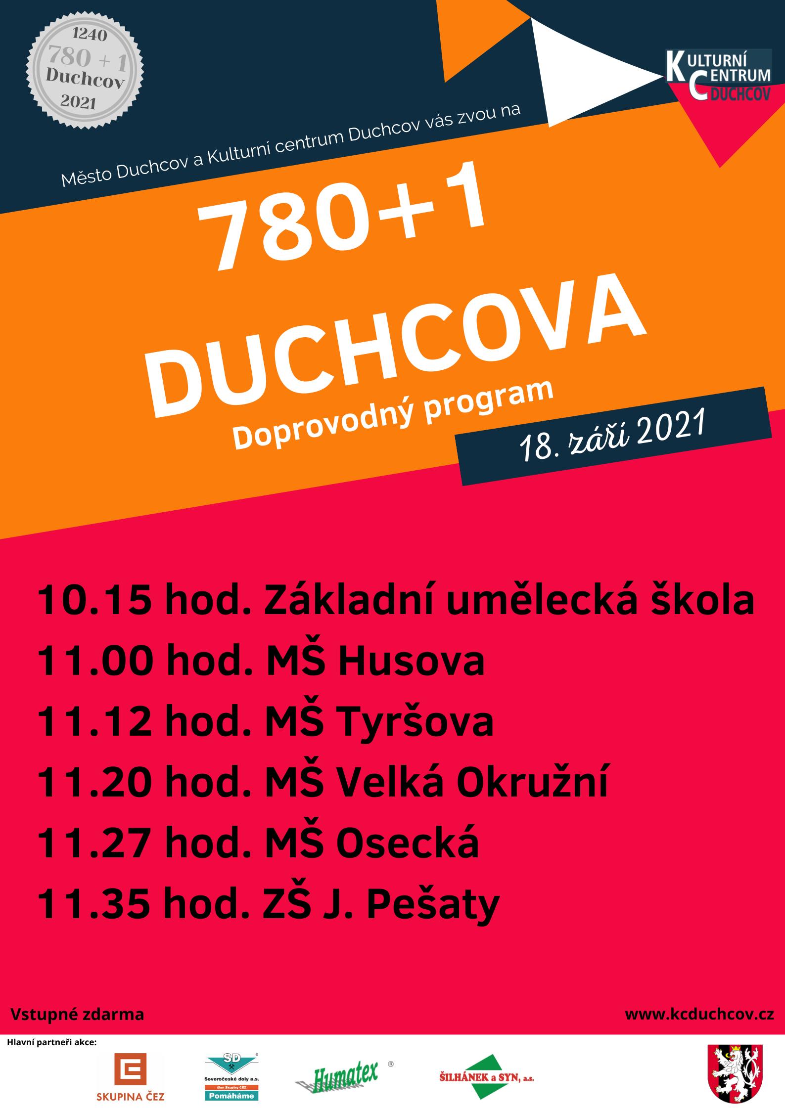 780+1 rok výročí města Duchcov @ Zámecká zahrada